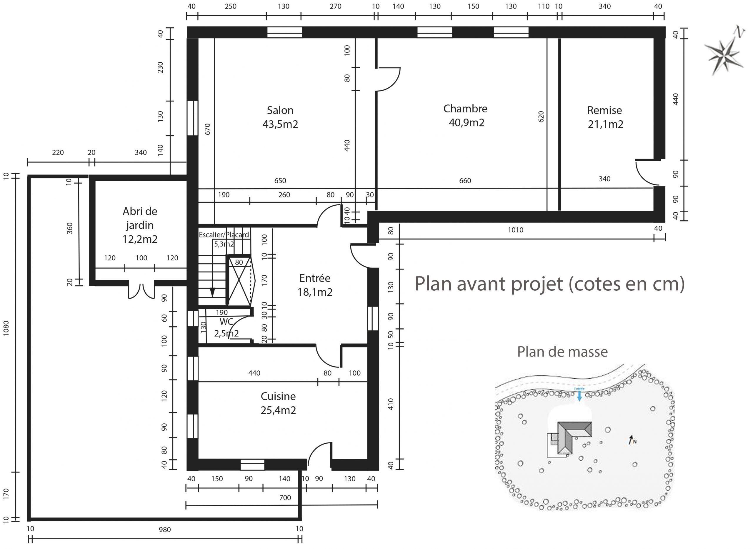 amenagement-decoration-maison de famille-campagne-provence-plan avant projet-dekho design
