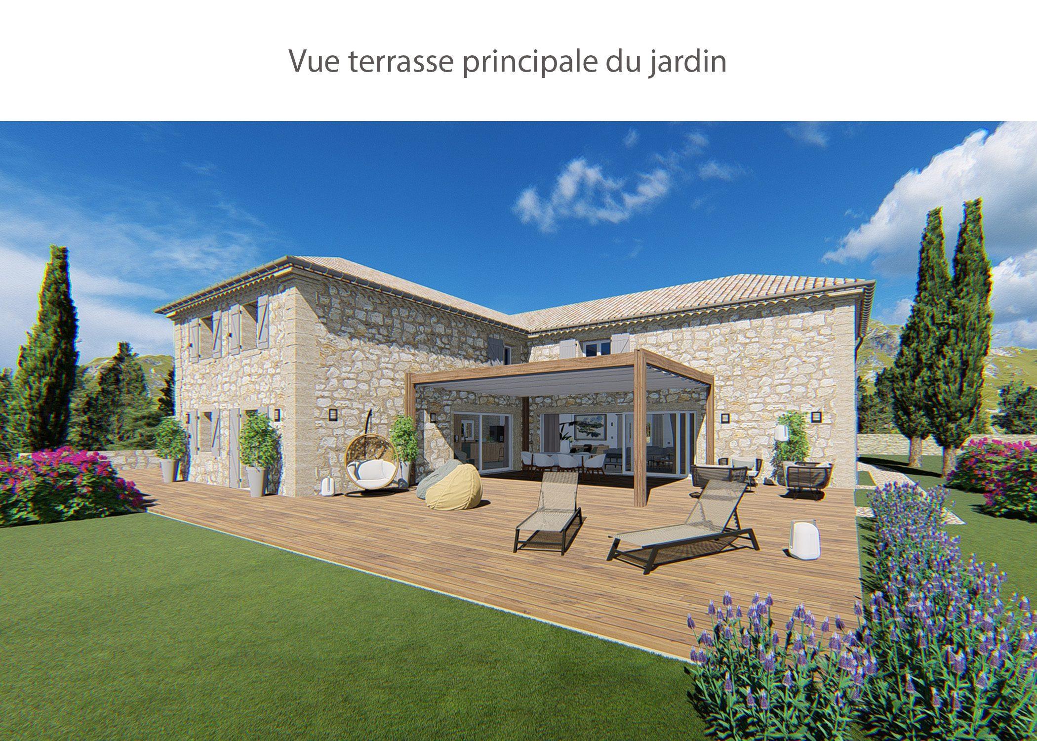 amenagement-decoration-maison de famille-campagne-provence-exterieur terrasse-dekho design