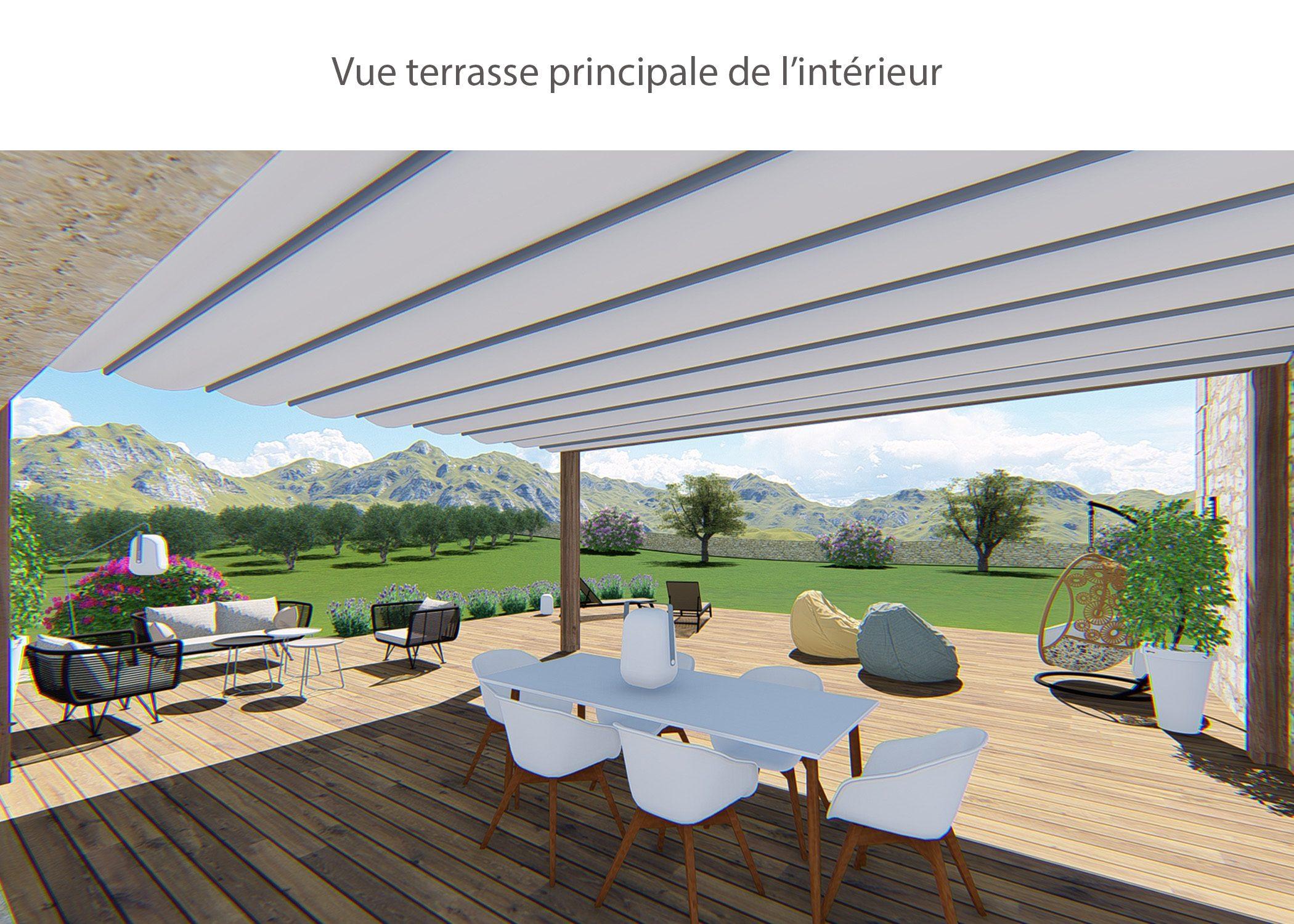 amenagement-decoration-maison de famille-campagne-provence-exterieur terrasse principale-dekho design