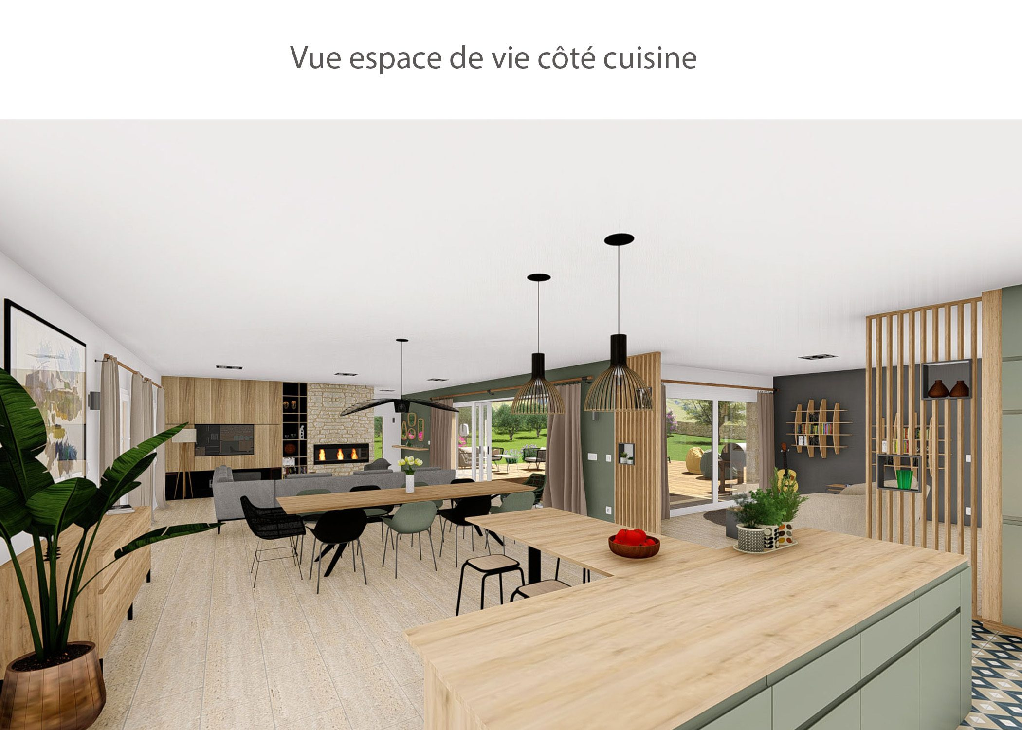 amenagement-decoration-maison de famille-campagne-provence-espace de vie cote cuisine-dekho design