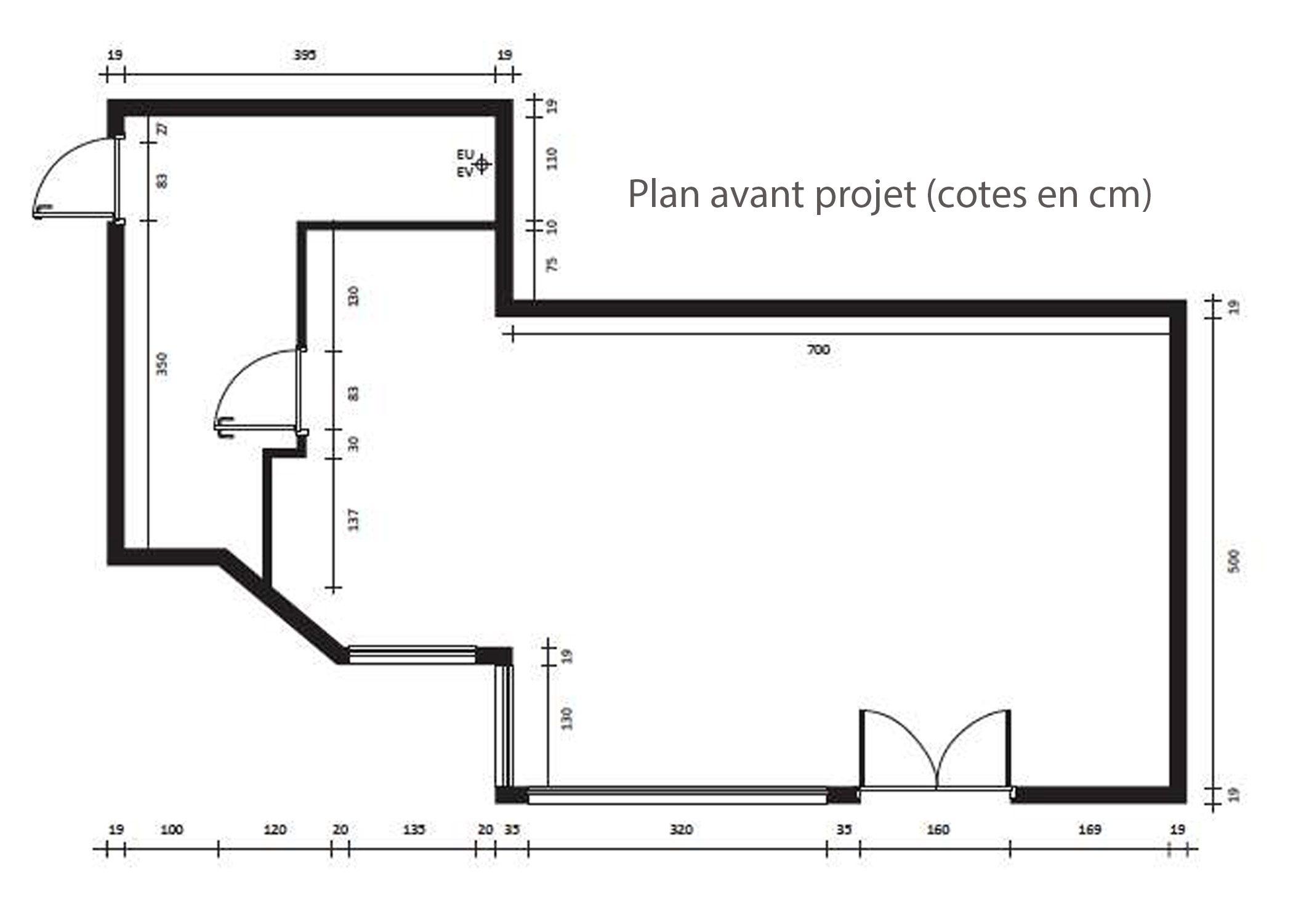 amenagement-decoration-magasin de luxe-paris-plan avant projet-dekho design