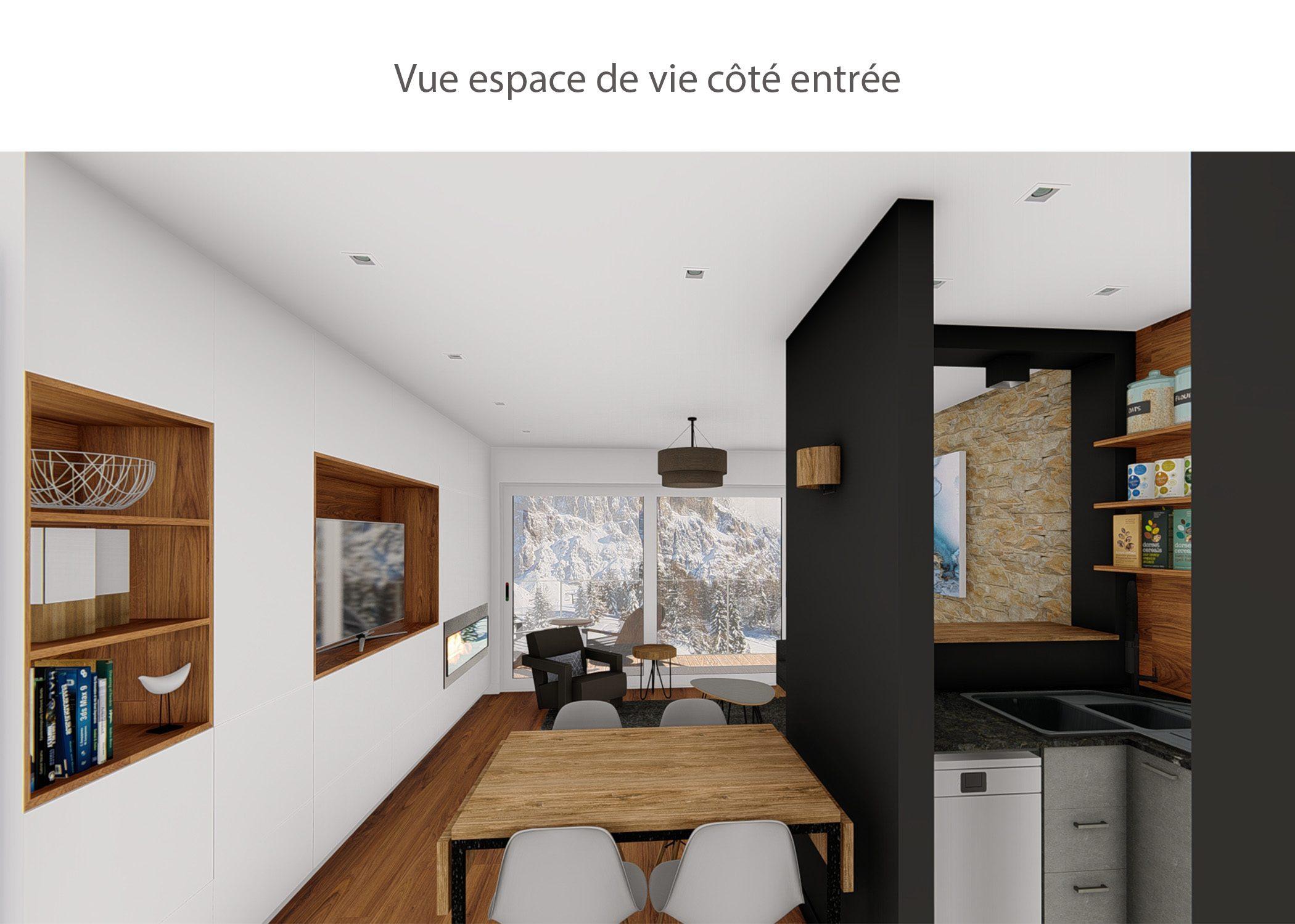 amenagement-decoration-appartement-montagne-italie-espace de vie cote entree-dekho design