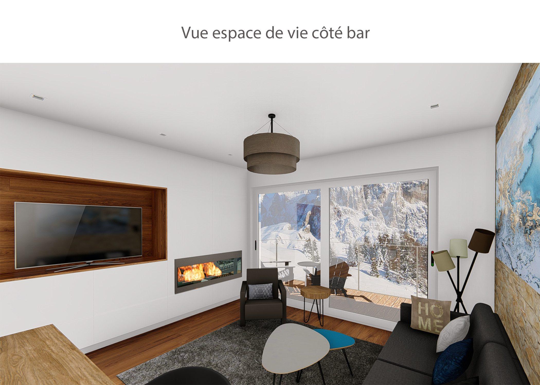 amenagement-decoration-appartement-montagne-italie-espace de vie cote bar-dekho design