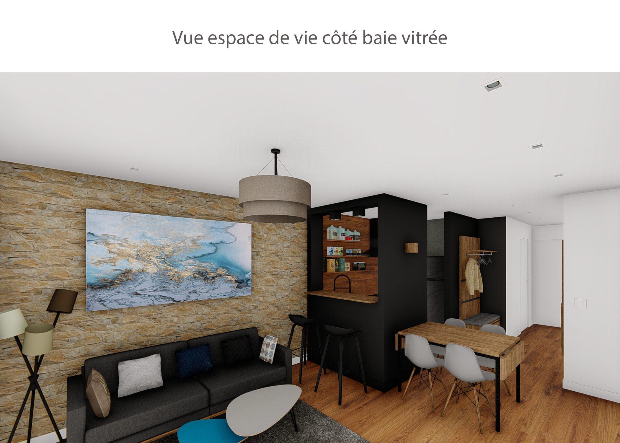 amenagement-decoration-appartement-montagne-italie-espace de vie cote baie vitree-dekho design
