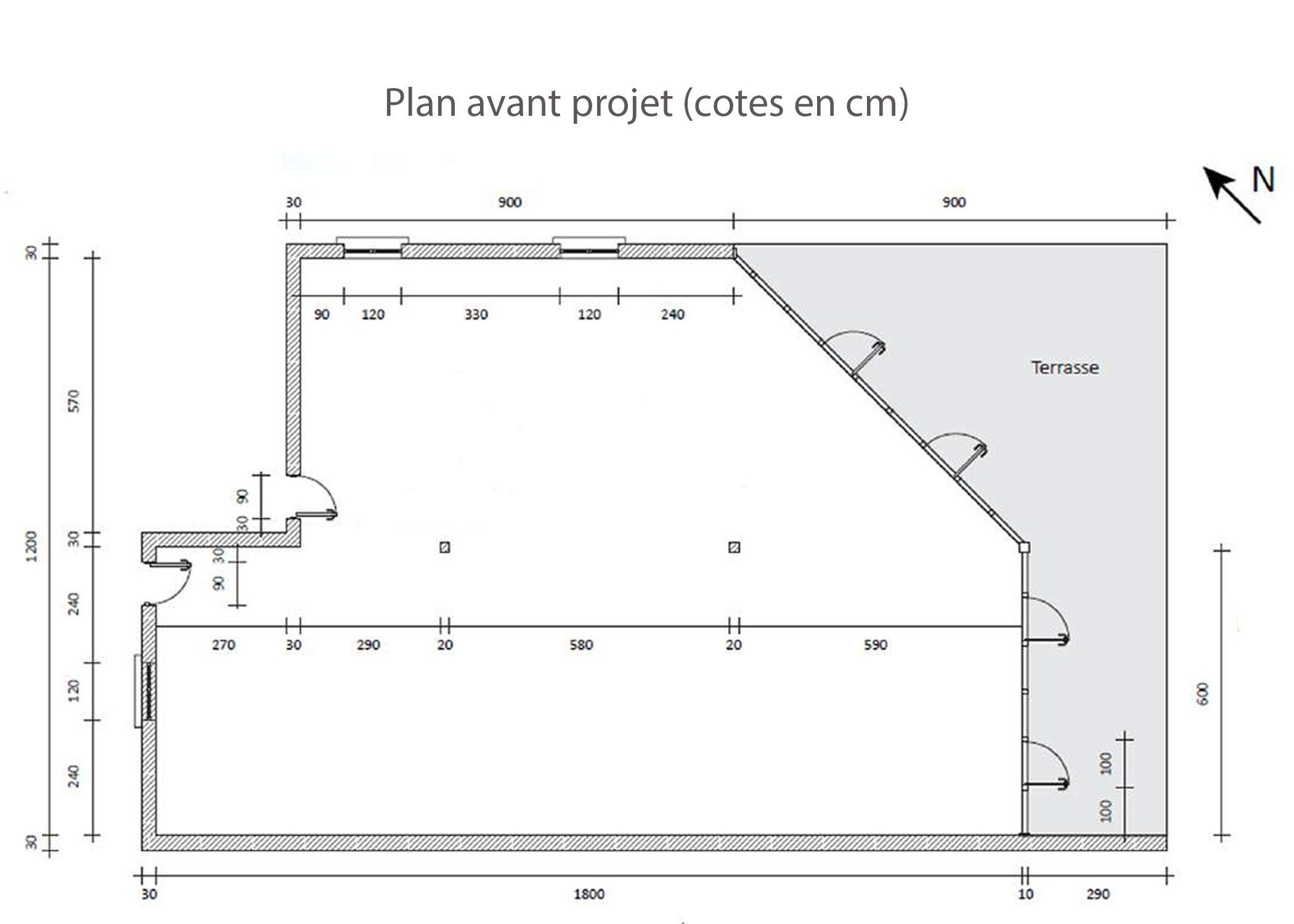 amenagement-decoration-start-up vente en ligne-region parisienne-plan avant projet-dekho design