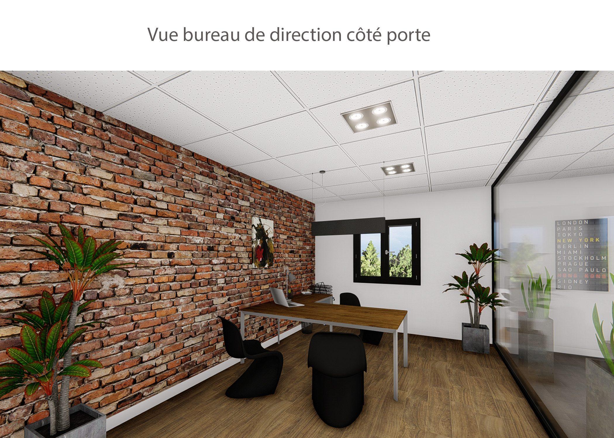 amenagement-decoration-start-up vente en ligne-region parisienne-bureau de direction cote porte-dekho design