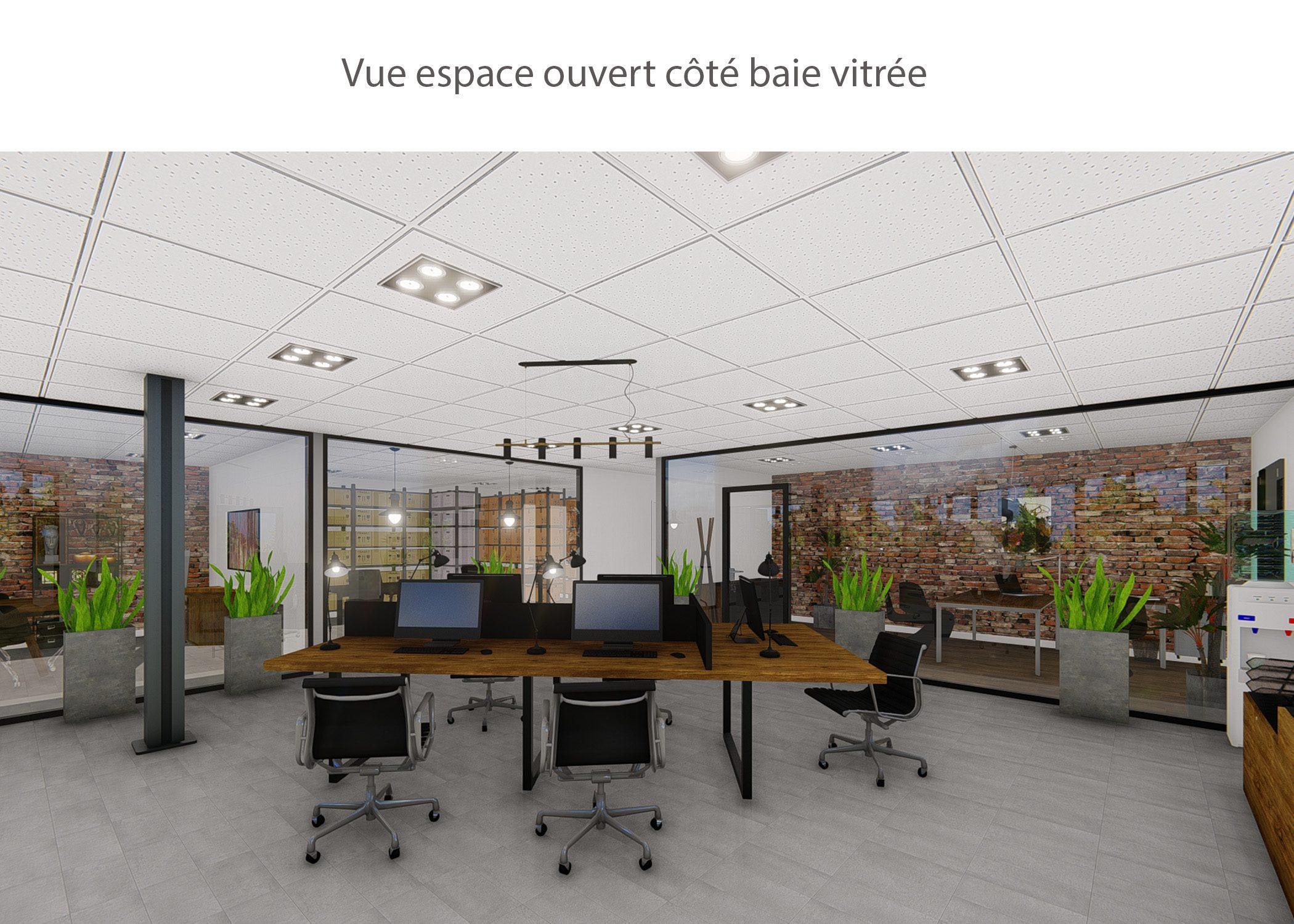 amenagement-decoration-start-up vente en ligne-region parisienne-espace ouvert cote baie vitree-dekho design