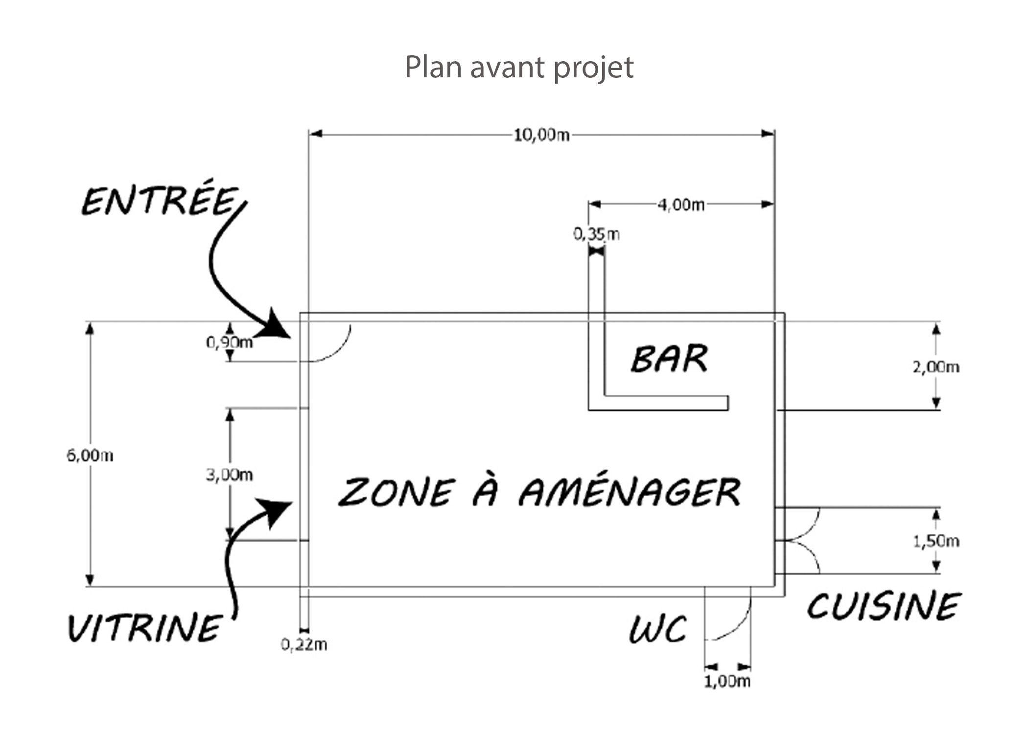 amenagement-decoration-restaurant-lyon-plan avant projet-dekho design