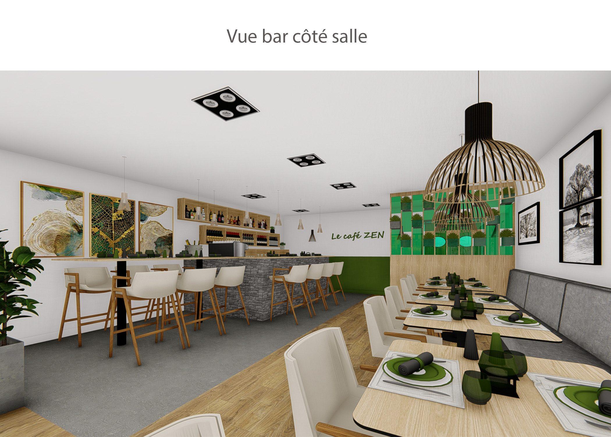 amenagement-decoration-restaurant-lyon-vue bar cote salle-dekho design