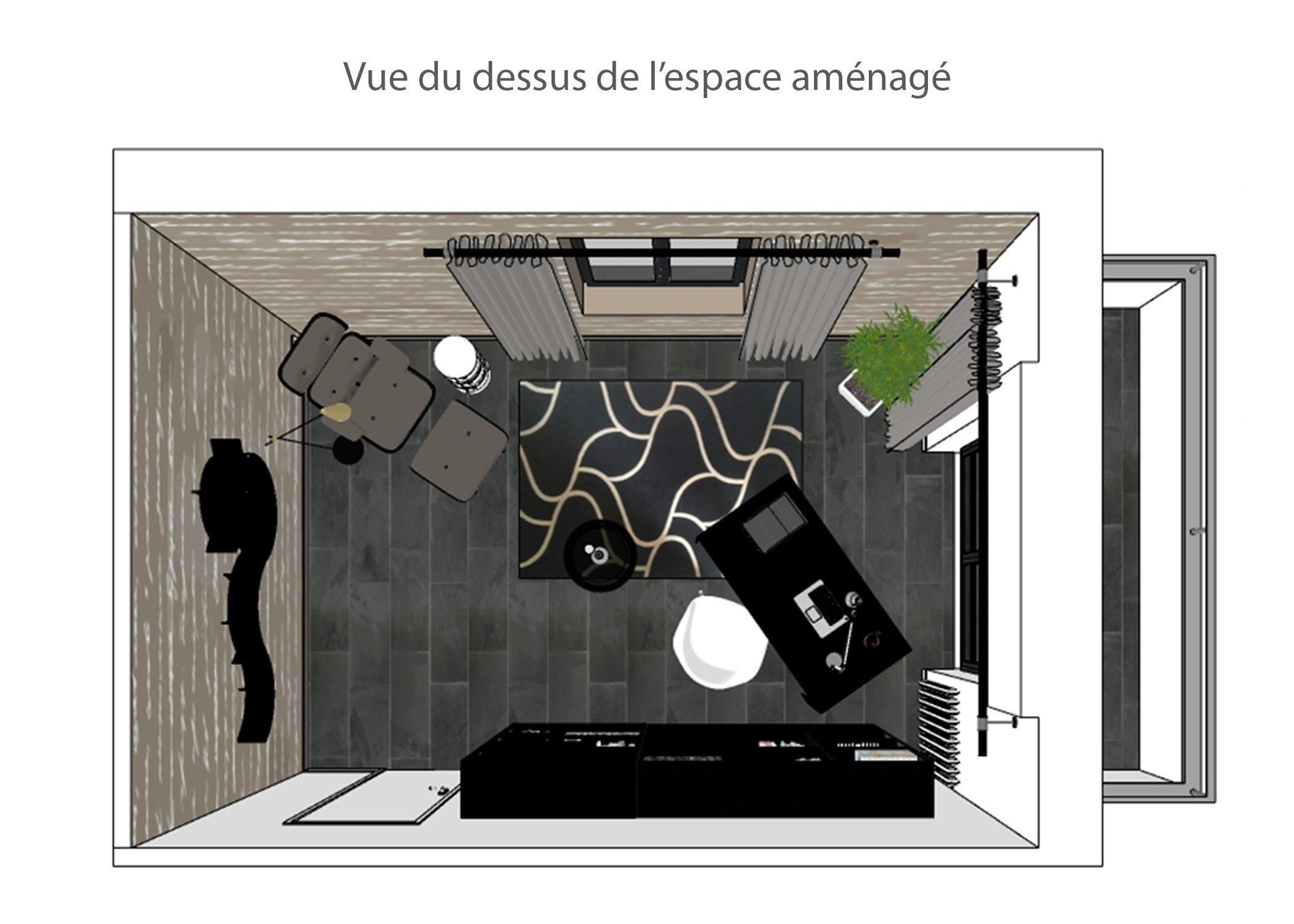 decoration-espace bureau-vue du dessus-paris-dekho design