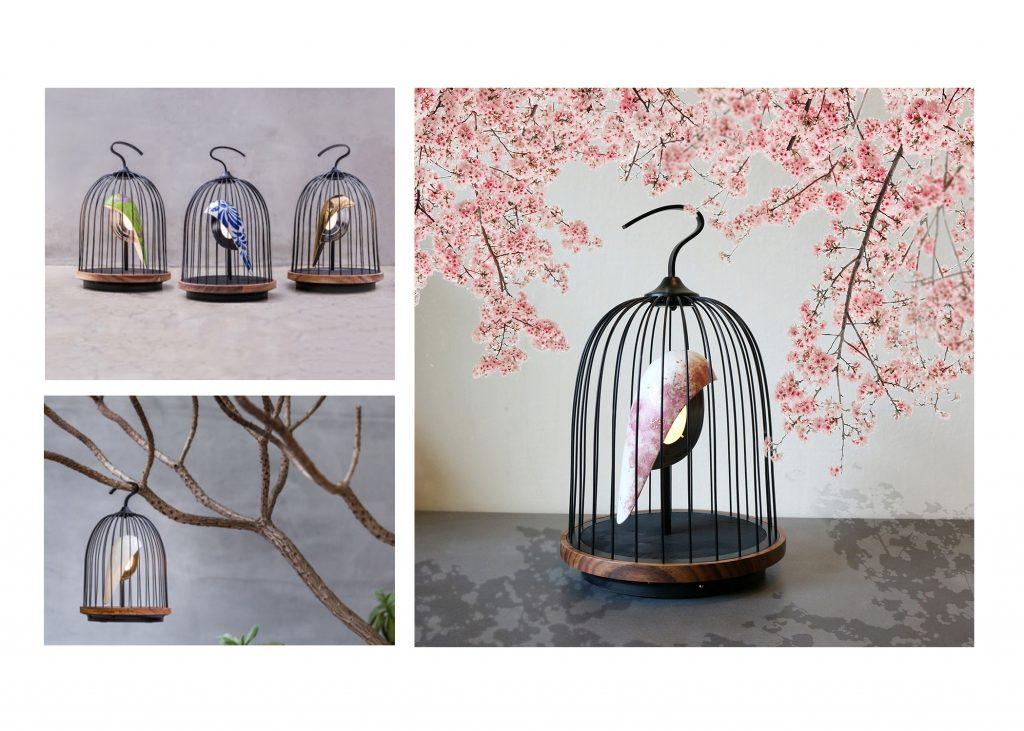 enceinte lumineuse-cage d'oiseau-phoenix-daqi collection jingoo-the cool republic-dekho design