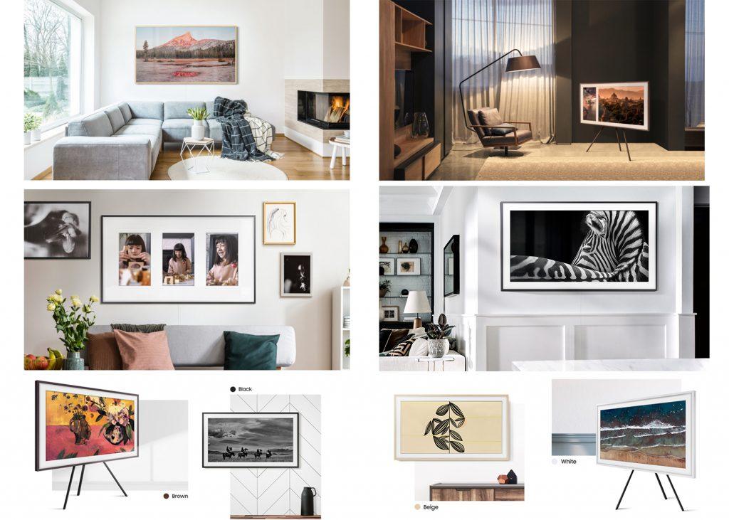 tv qled-the frame-Samsung-dekho design