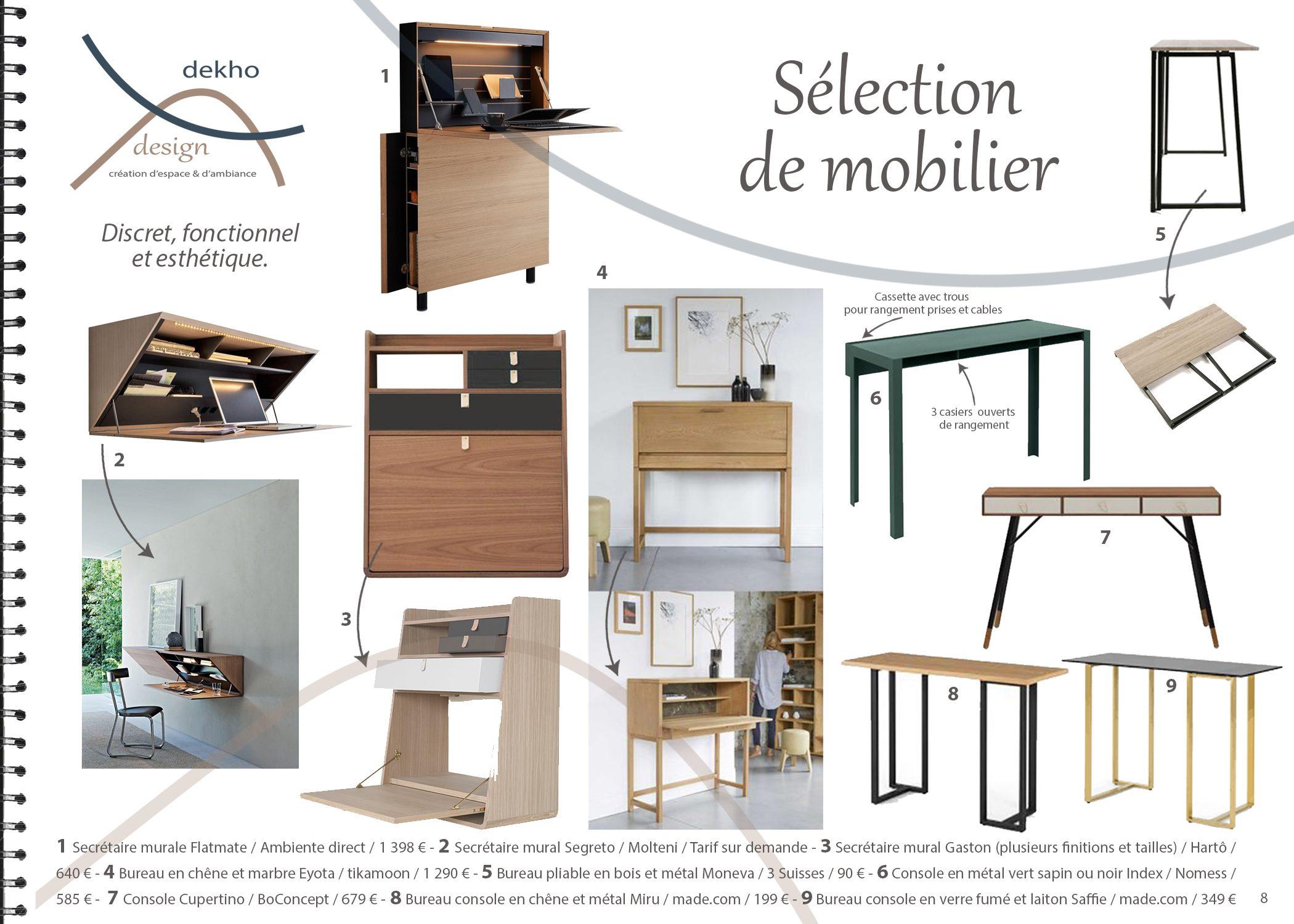 carnet d'intérieur-coin bureau-sélection mobilier-conseils-dekho design