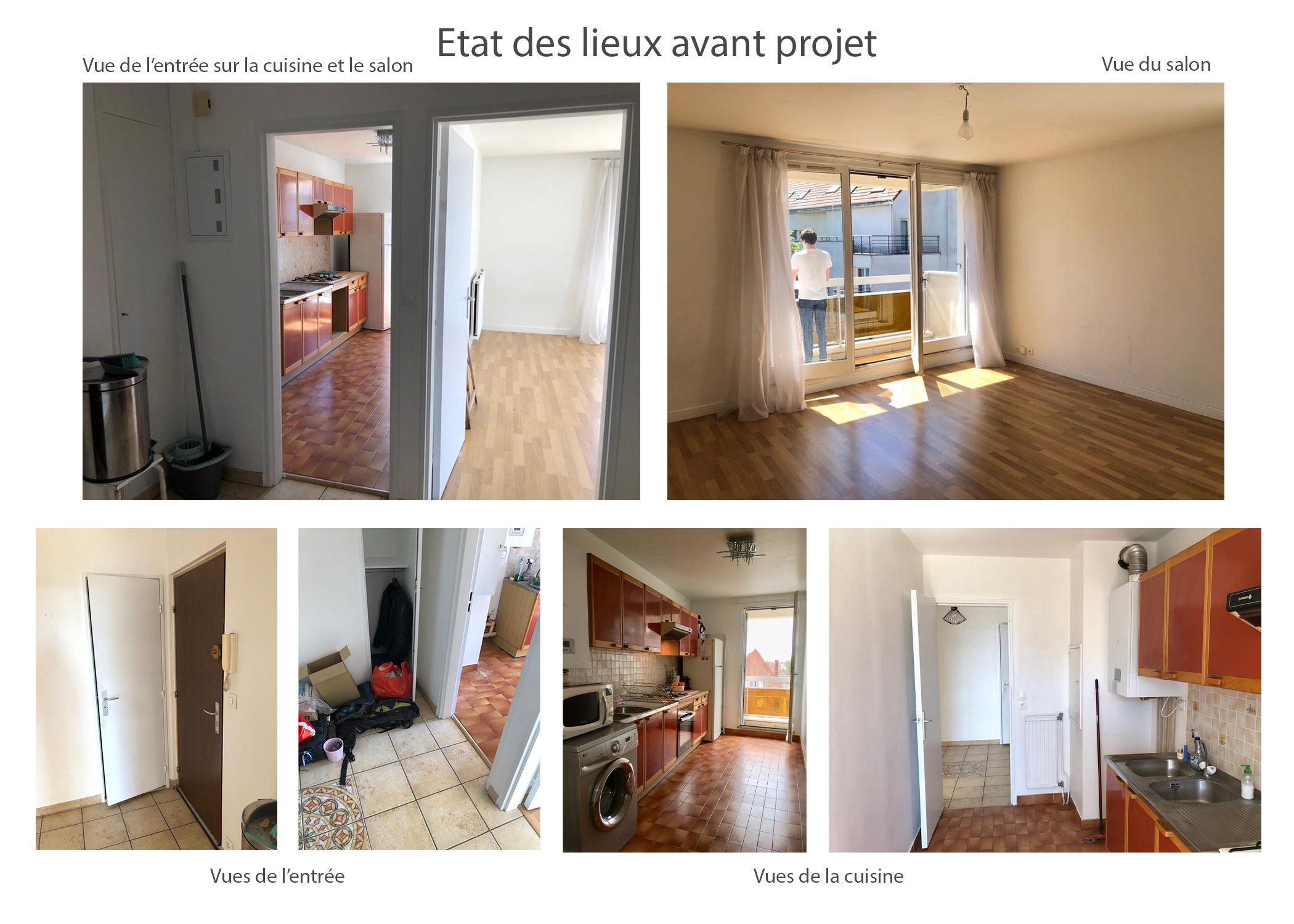 amenagement-decoration-appartement-region parisienne-etat des lieux avant projet-dekho design