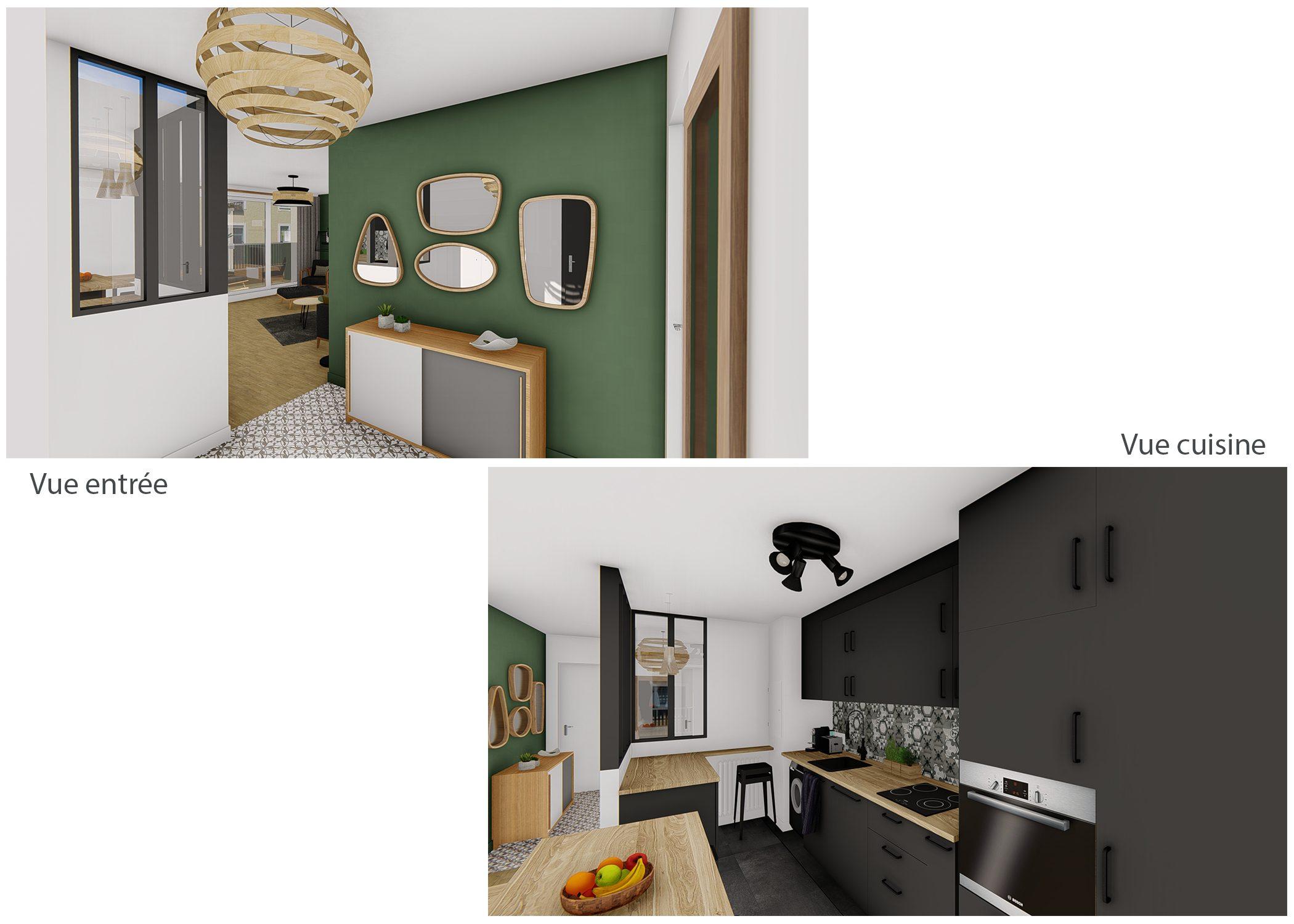 decoration-vues entrée et cuisine-paris-dekho design