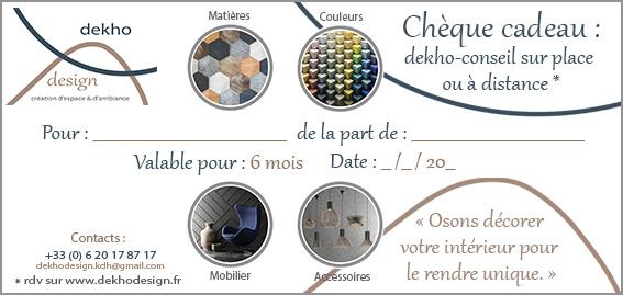 cheque cadeau-dekho design