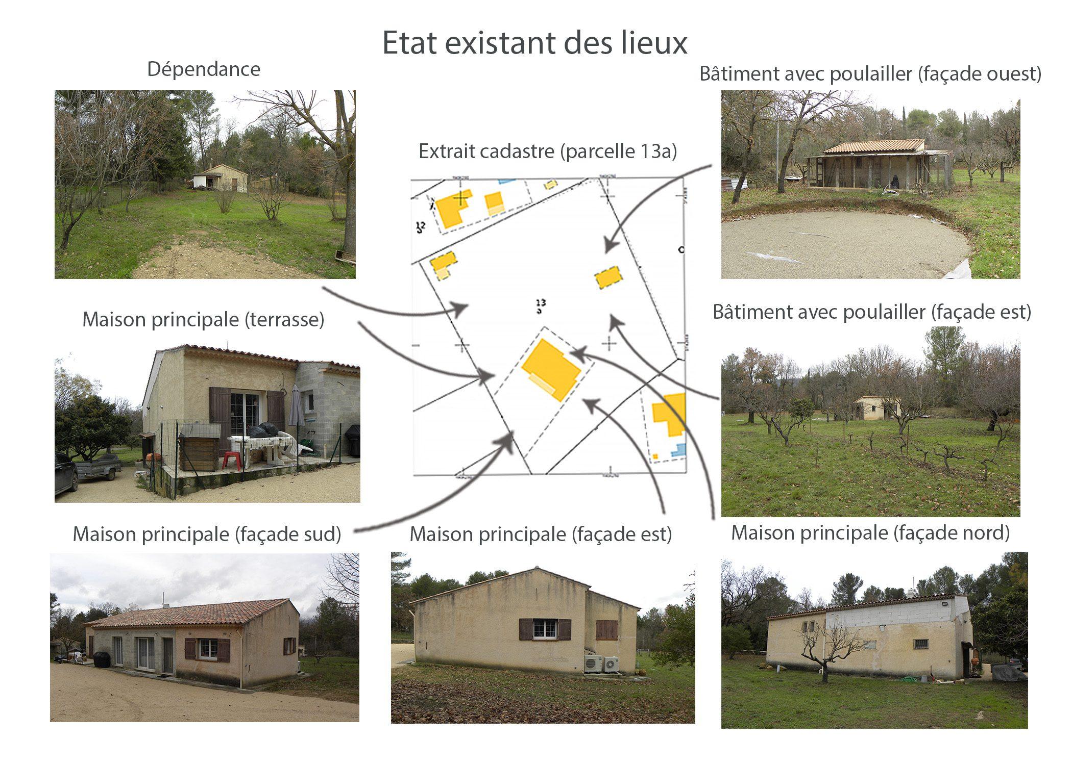 agencement terrain fuveau-espace exterieur-etat existant avant projet-dekho design
