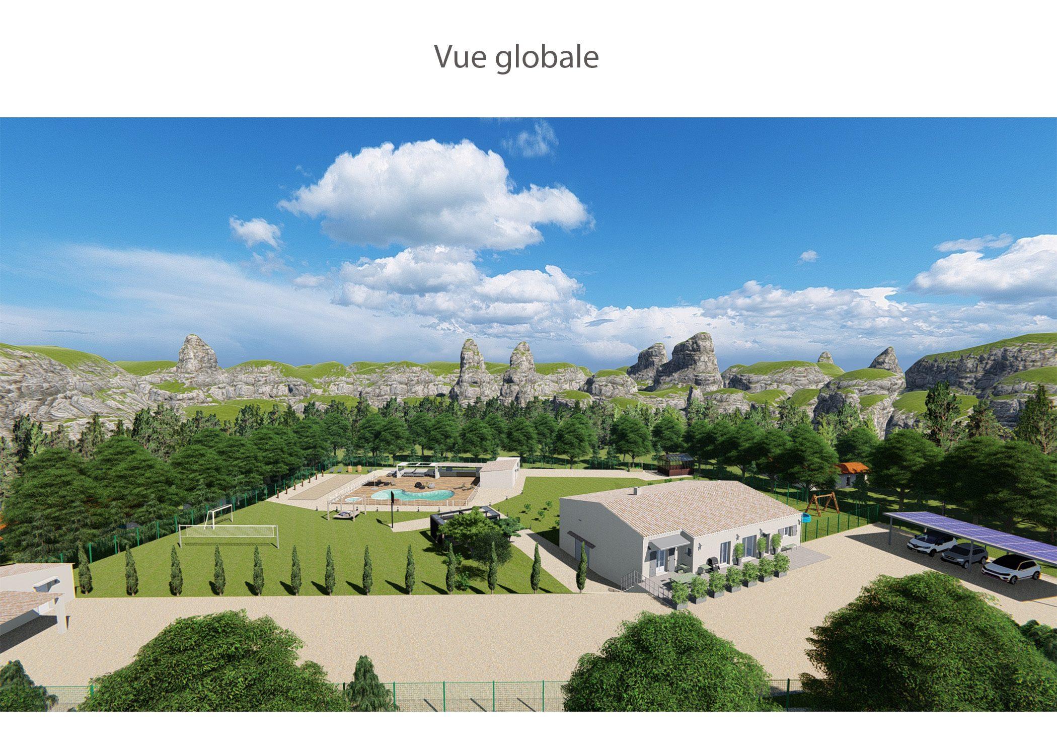 agencement terrain fuveau-espace exterieur-vue globale-dekho design