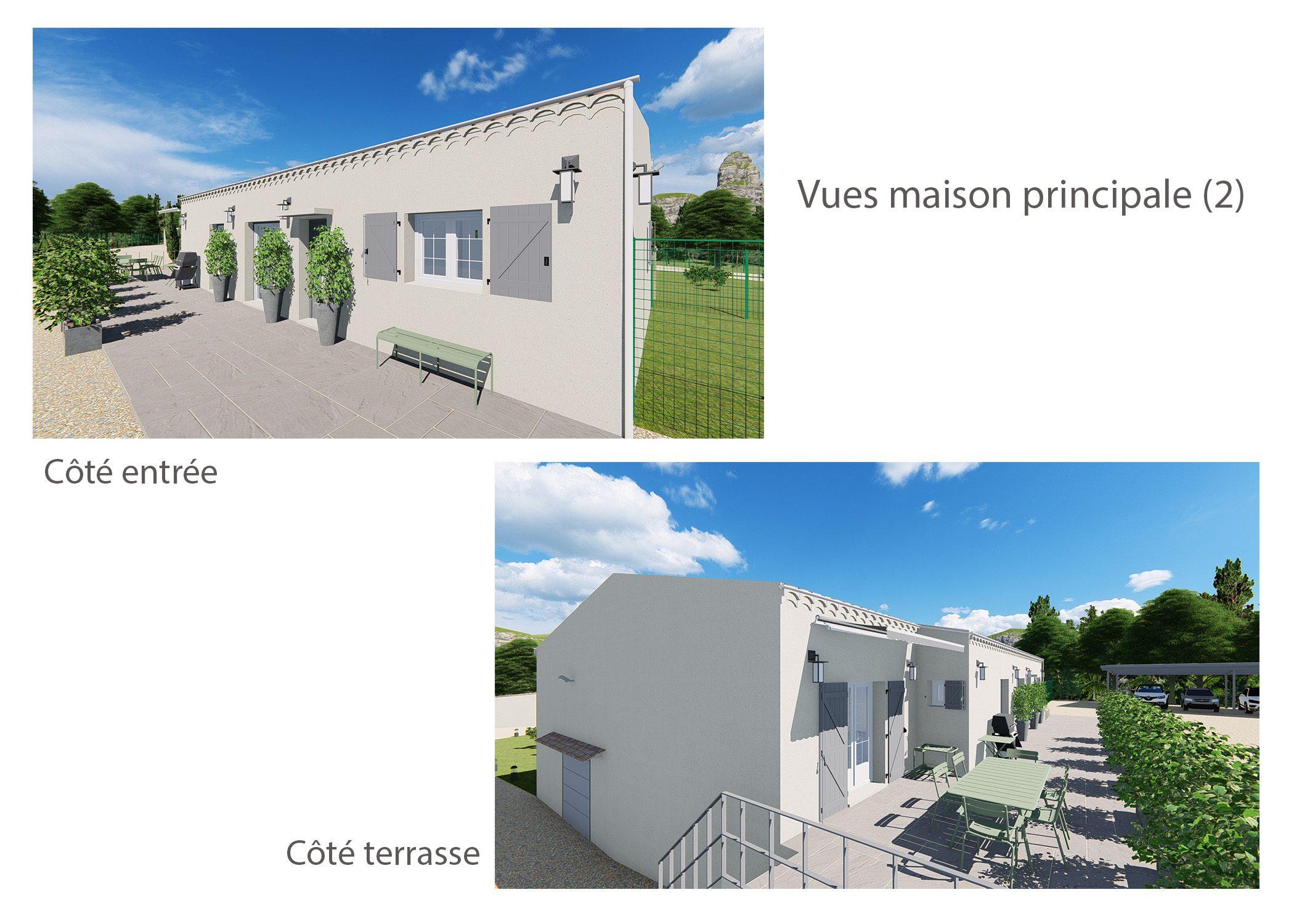 agencement terrain fuveau-espace exterieur-vues maison principale-dekho design