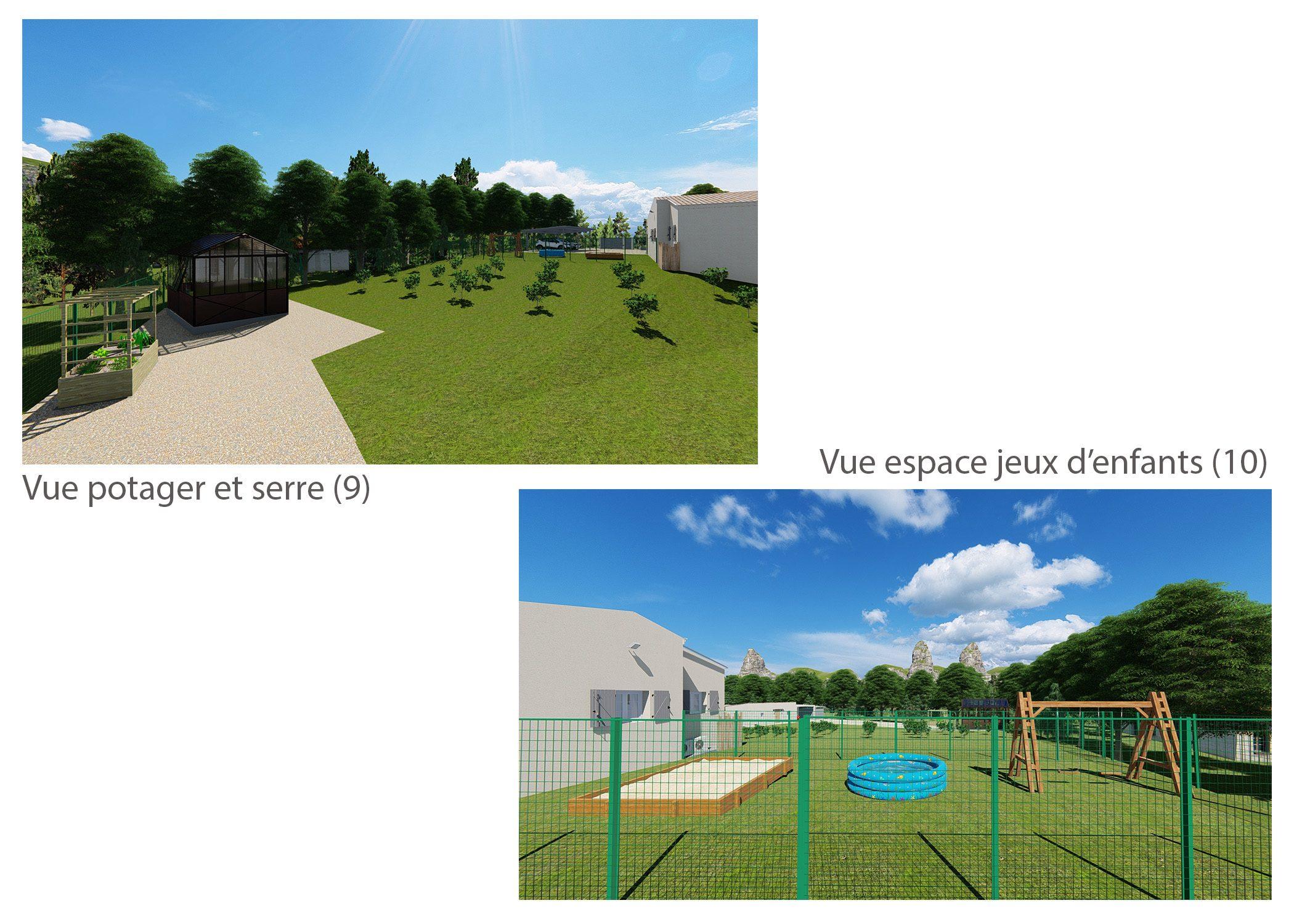 agencement terrain fuveau-espace exterieur-vues espaces potager et jeux d'enfants-dekho design