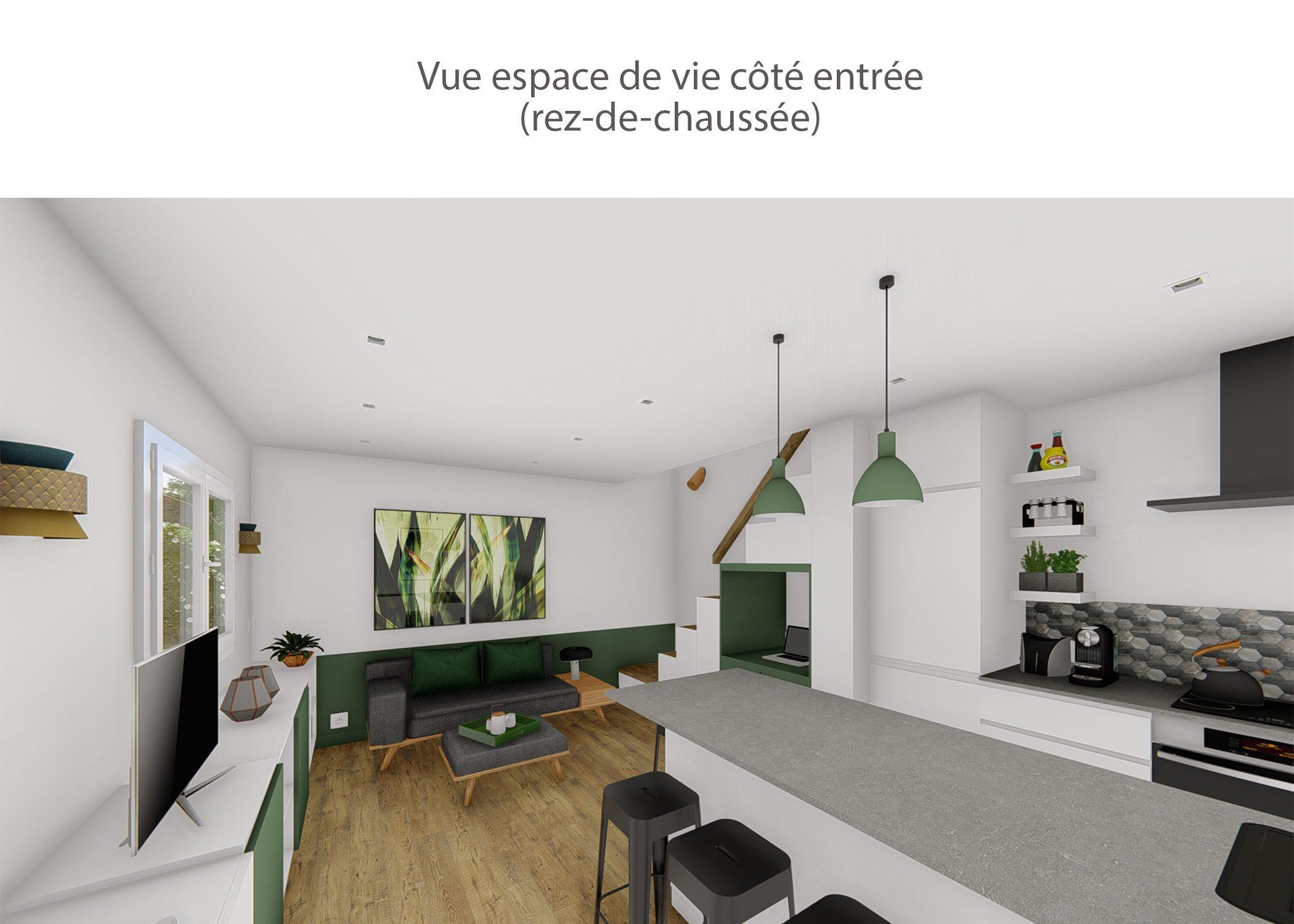 agencement petit espace-vue espace de vie cote entree-region lyonnaise-dekho design