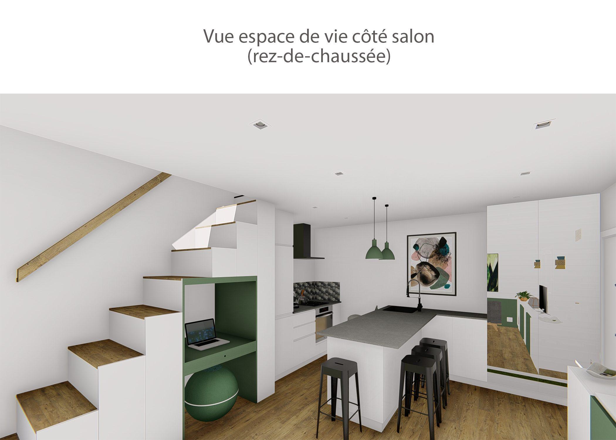 agencement petit espace-vue espace de vie cote salon-region lyonnaise-dekho design