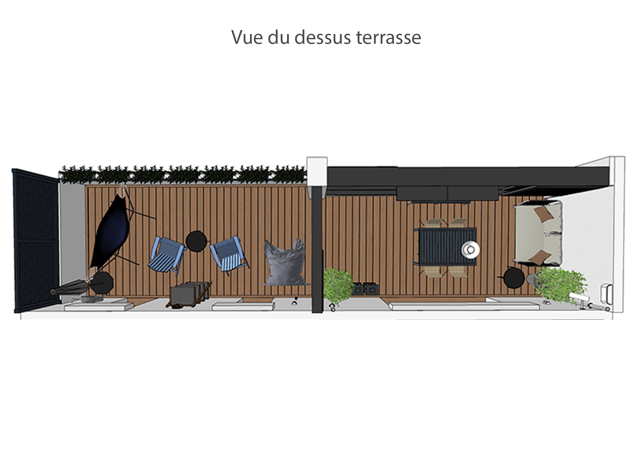 decoration-terrasse et chambre-vue du dessus terrasse-aix-en-provence-dekho design