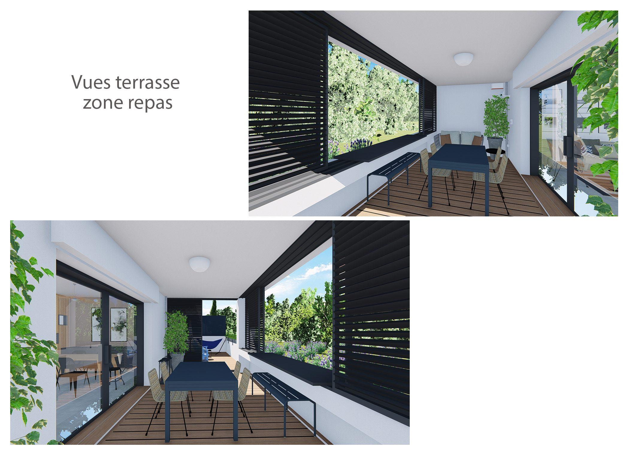 decoration-terrasse et chambre-vues terrasse repas-aix-en-provence-dekho design