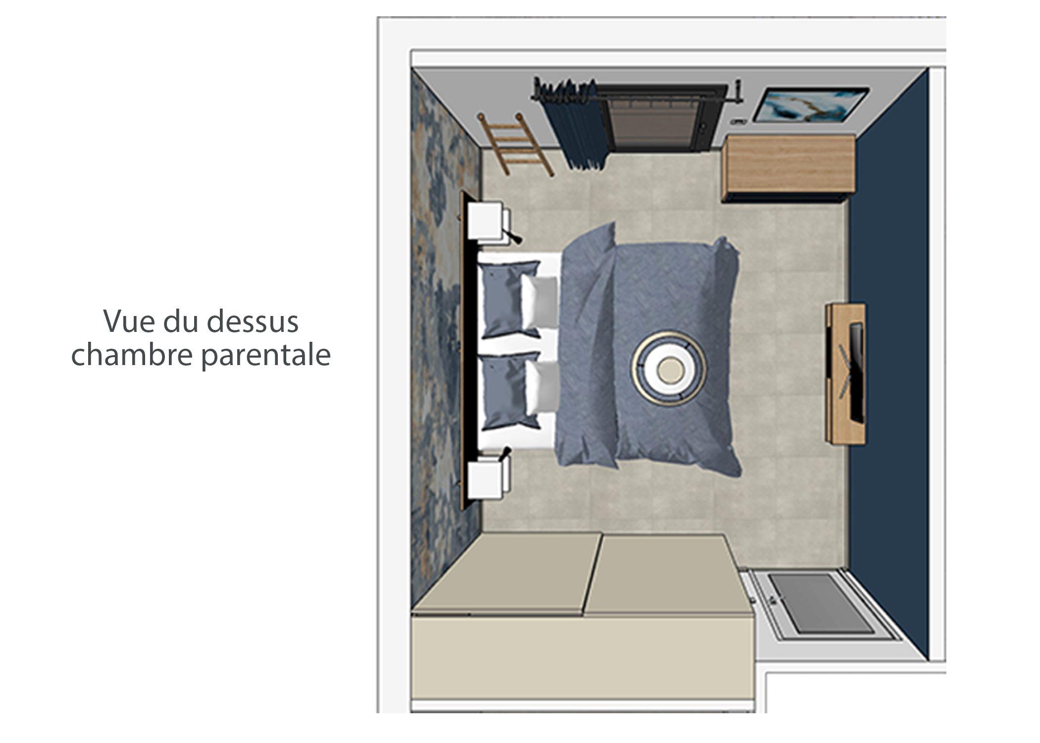 decoration-terrasse et chambre-vue du dessus chambre-aix-en-provence-dekho design