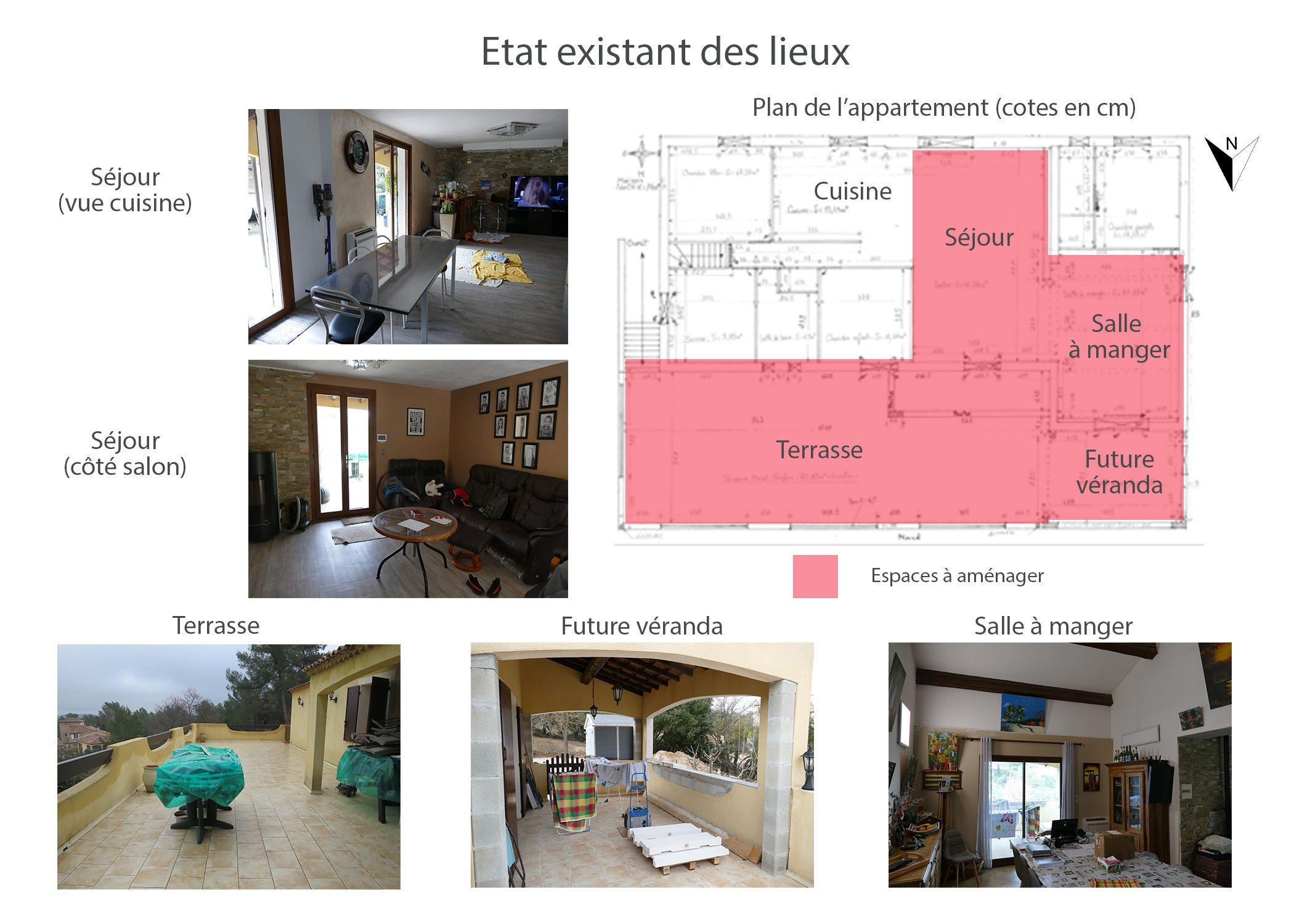 amenagement-decoration-espace de vie et terrasse fuveau-etat existant avant projet-dekho design