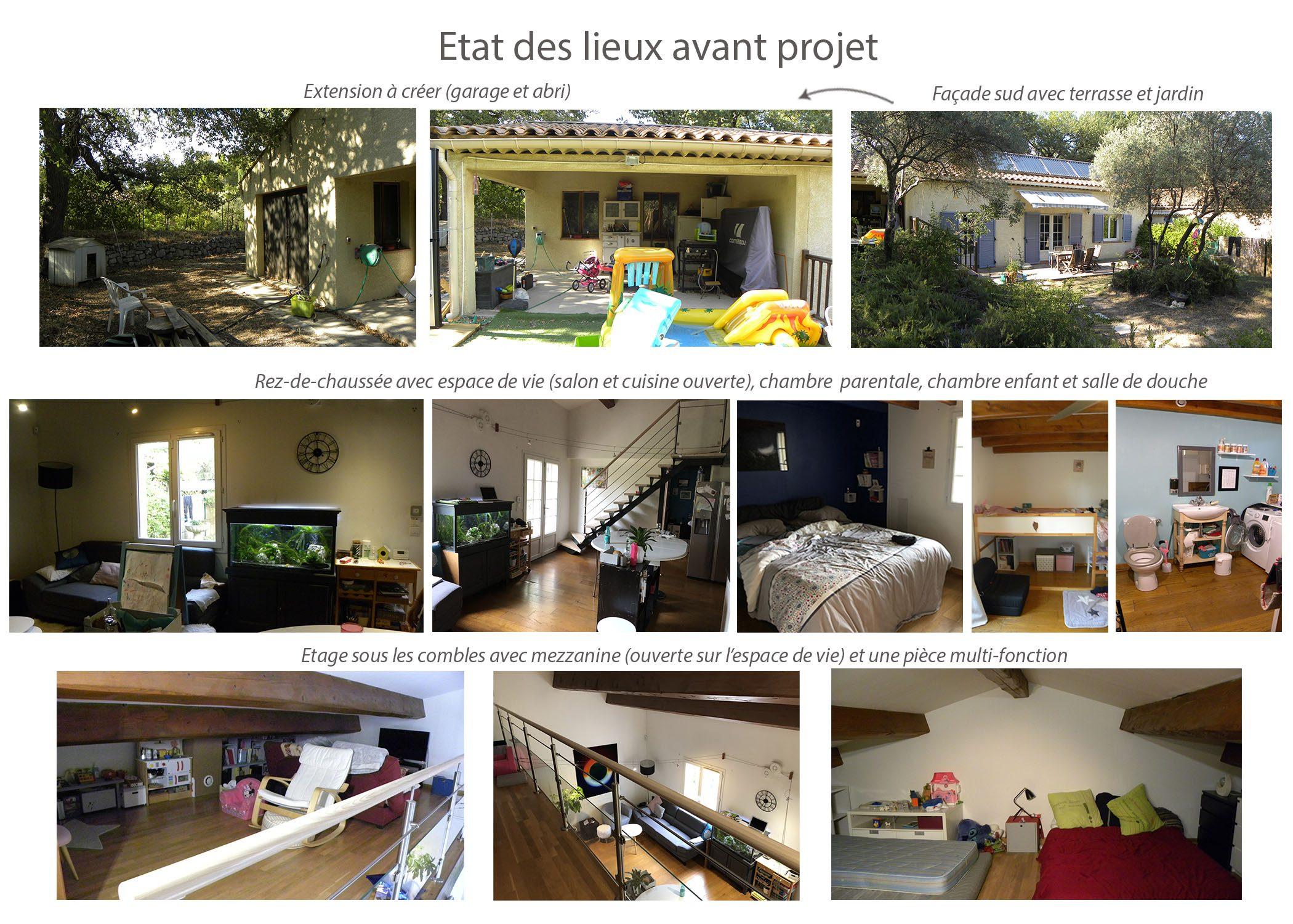 renovation-amenagement-decoration-maison de famille-fuveau-etat existant avant projet-dekho design
