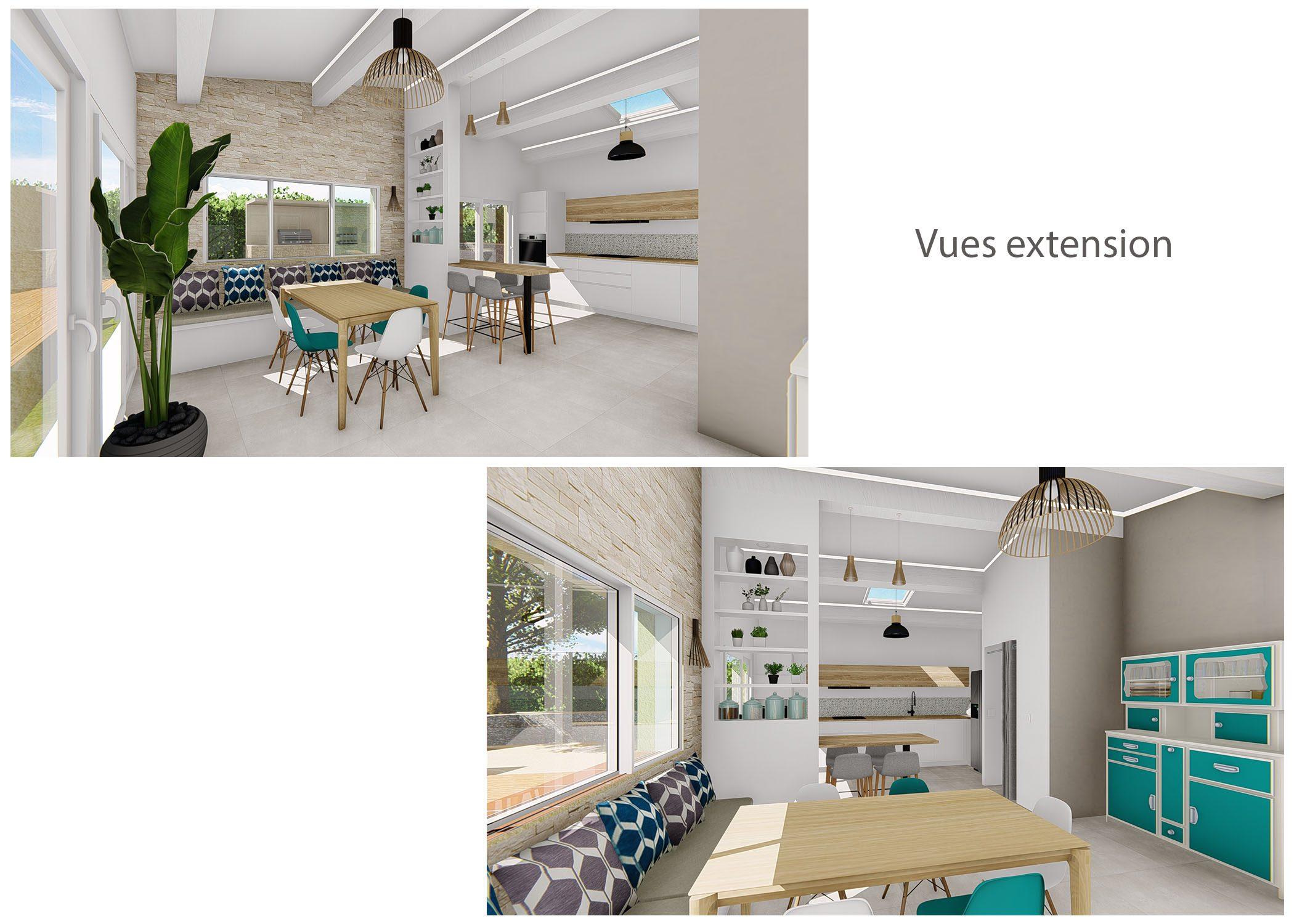renovation-amenagement-decoration-maison de famille-fuveau-rendus estension-dekho design