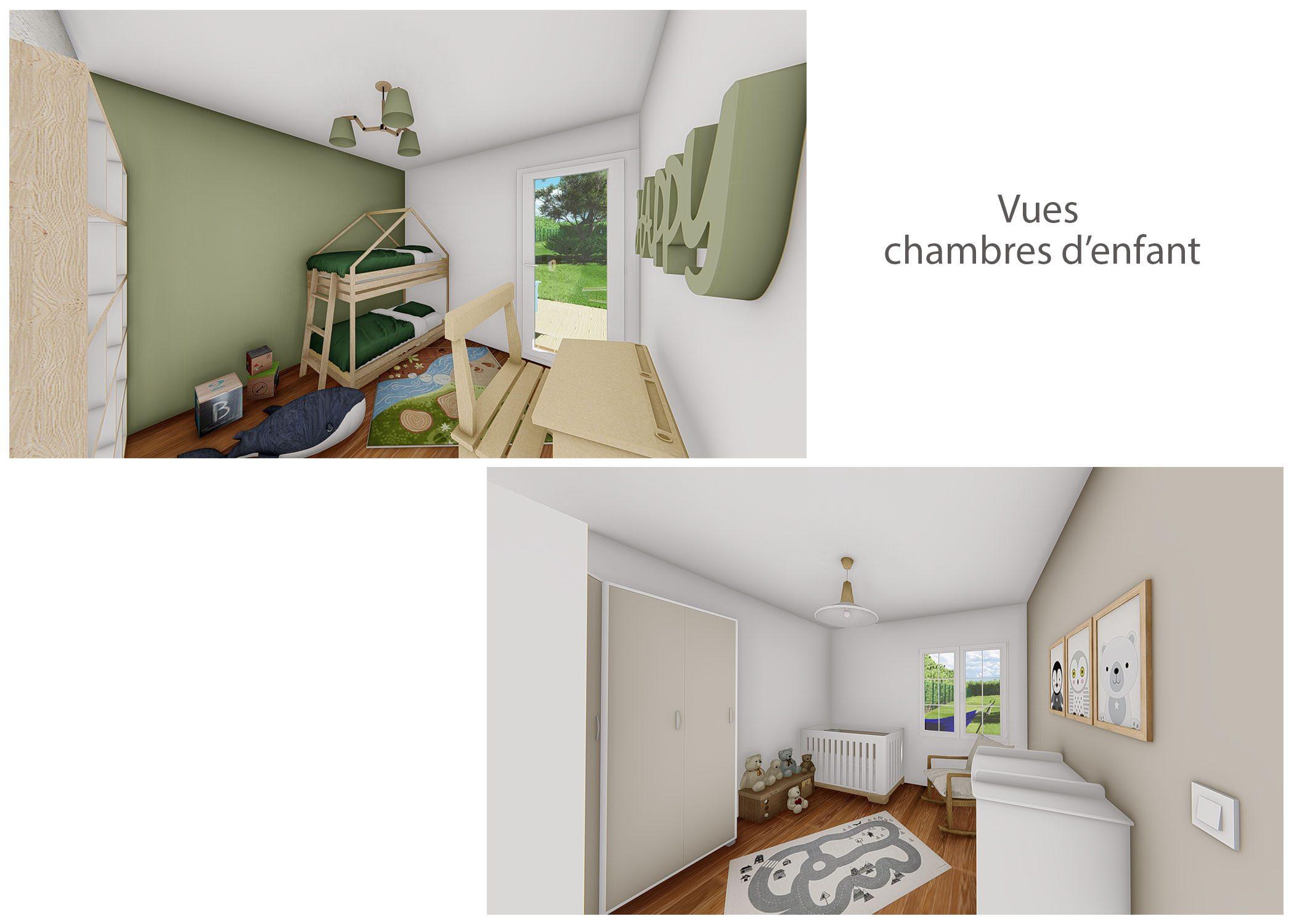 renovation-amenagement-decoration-maison de famille-fuveau-rendus chambres d'enfants-dekho design