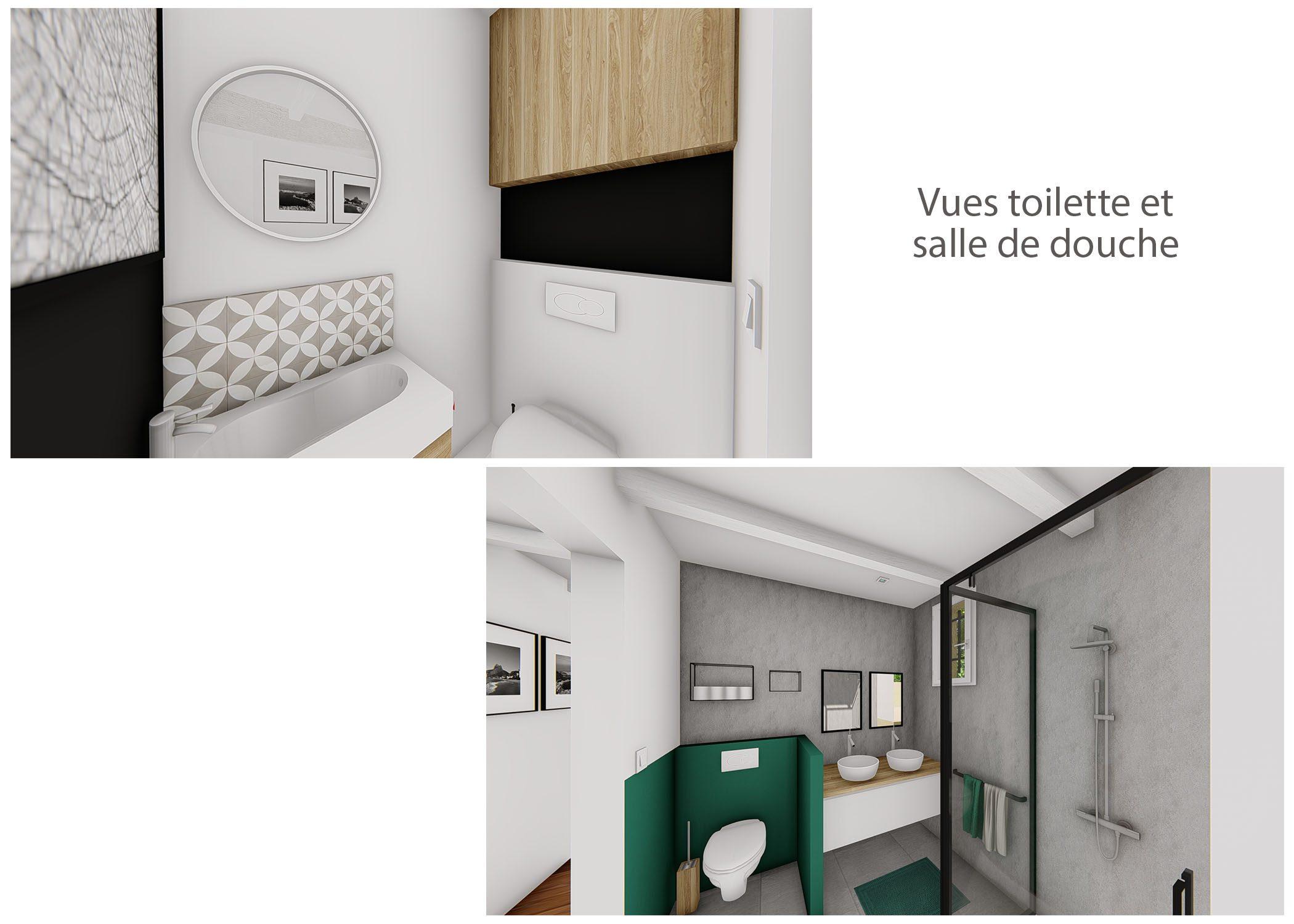 renovation-amenagement-decoration-maison de famille-fuveau-rendus WC et salle de douche-dekho design