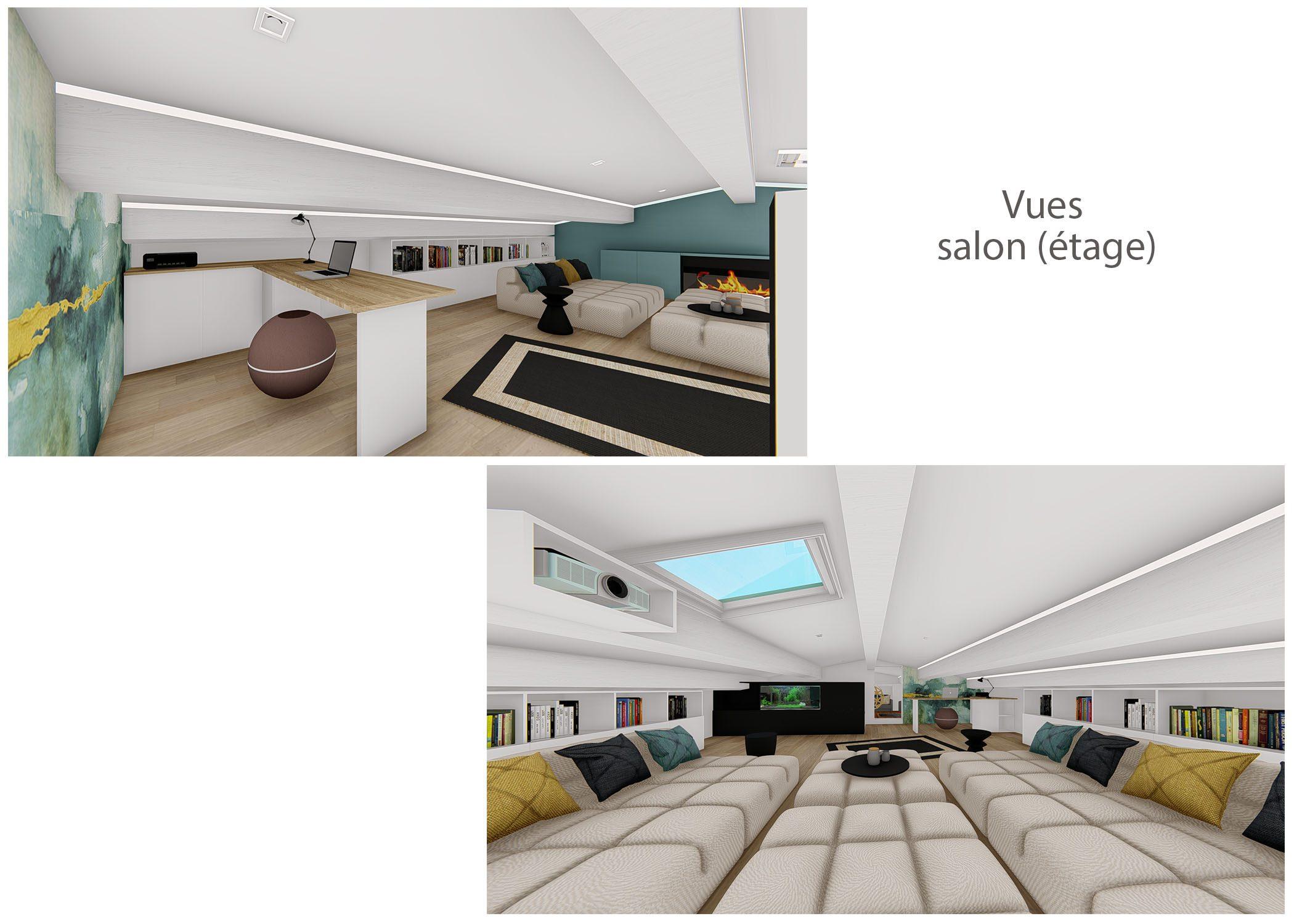 renovation-amenagement-decoration-maison de famille-fuveau-rendus salon-dekho design